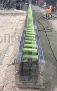 Цепной транспортер для зерна
