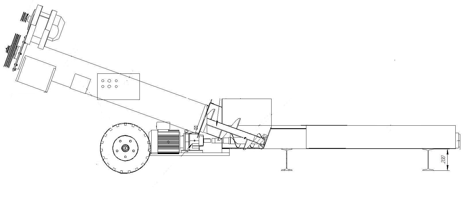 Эскиз разгрузчика вагонов в общепромышленном исполнении